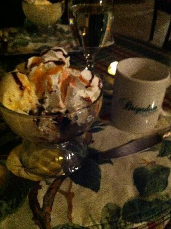 ‪‪Brigadoon Bed and Breakfast‬: Hot Fudge Sundae at the Brigadoon‬