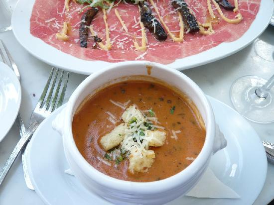 Lindey's: Bisque and Carpaccio