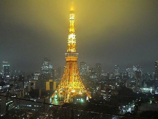 โรงแรมเดอะปรินท์ พาร์ค โตเกียว: 初日の東京タワー
