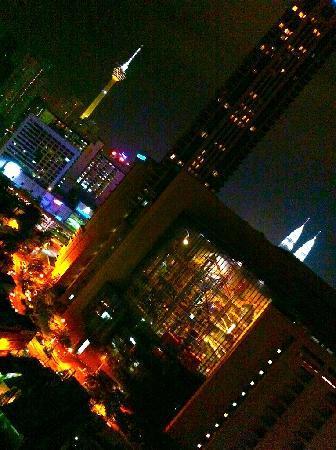 Furama Bukit Bintang: Night view from Room 1712.