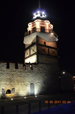 Maiden's Tower by night