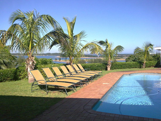 Richards Bay, South Africa: View from my room towards the sea and deck chairs