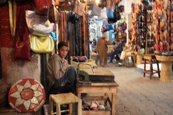 Travel Exploration Morocco Private Tours: Bazaar in Marrakesh