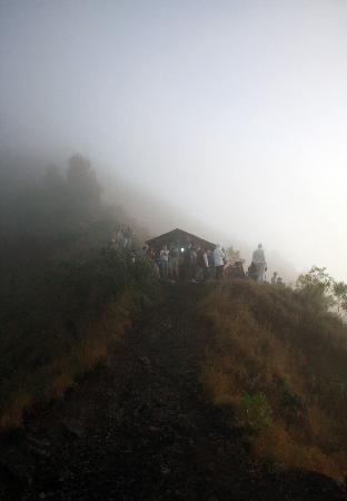 Mount Batur: waiting for the clouds to clear