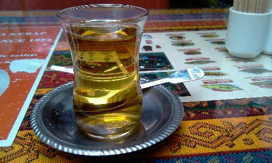Turvan Hotel: Apple Tea at the restaurant on the other side of the street ;-)