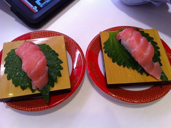 Genki Sushi: 2 Orders of sushi