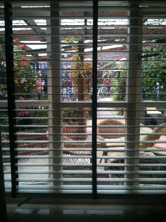 The Bell at Boxford: Patio Garden View from Room 7