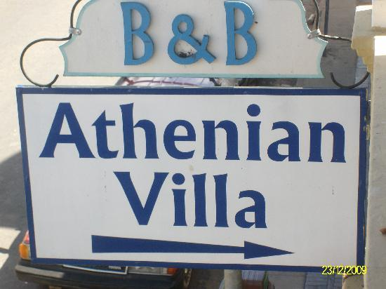 Arriving at the Athenian Villa