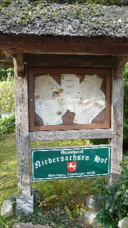 Niedersachsenhof: Die Speisenkarte