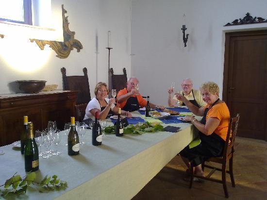 Decugnano Dei Barbi Cooking Class: Dinner in the Chapel..salute!