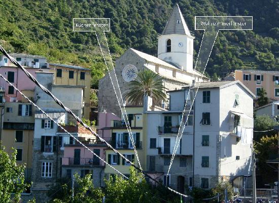 Il Carugio di Corniglia: Ansicht von Meerseite her