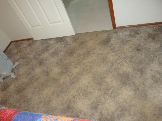 Dwellingup Chalets & Caravan Park: rather grotty looking carpet in bedroom