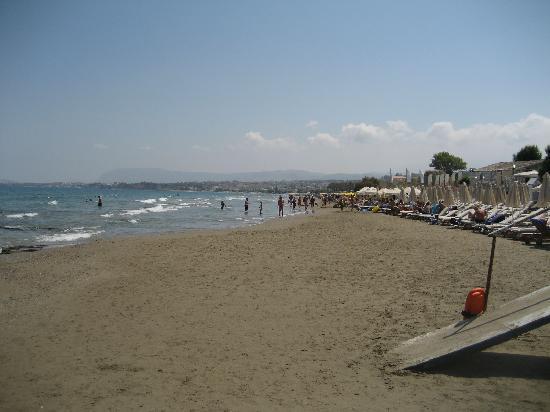 Atrion Resort Hotel: Stranden direkt nedanför hotellet. Heeeelt underbar strand! Bästa av alla vid Stalos, Agia Marin