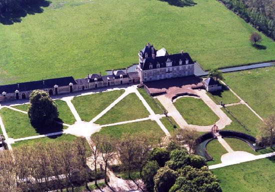 Chateau de Champchevrier : Champchevrier vu du ciel