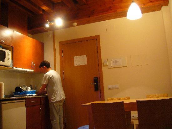 Aparthotel Nou Vielha: Cocina y comedor
