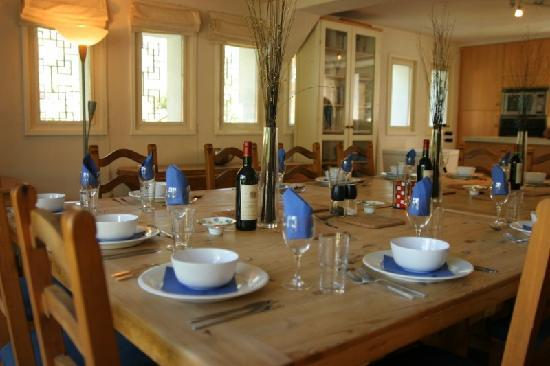 Fine dining at Chalet Blanche
