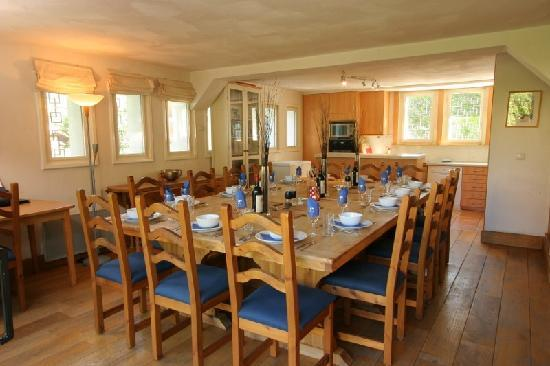 Dining at Chalet Blanche