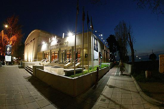 National Theatre of Northern Greece: Vassiliko Theatro by night