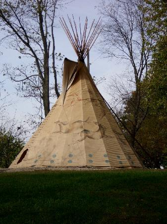 At Boulders Edge: One of the Tee Pee's