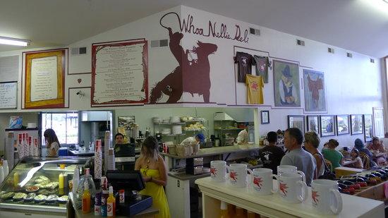 Tioga Gas Mart & Whoa Nellie Deli: Inside Wall Menu