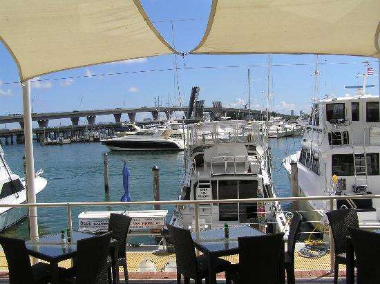 Largo Bar & Grill: View of marina