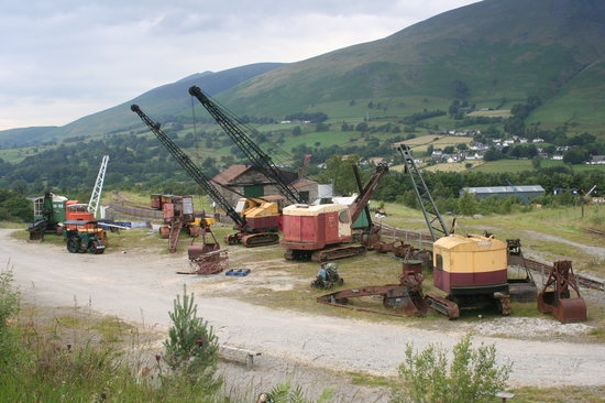 Keswick, UK : Preserved vintage cranes at Threlkeld