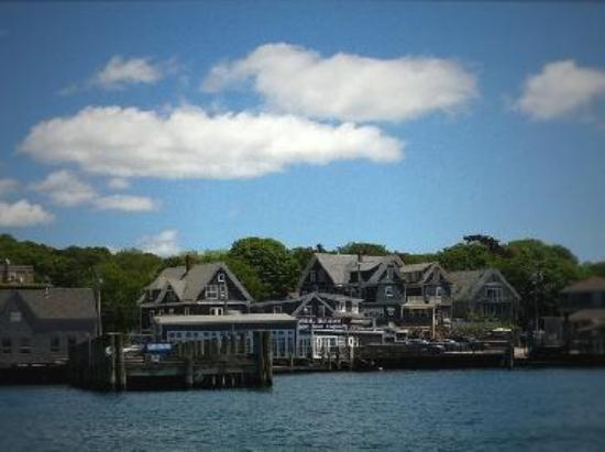 Looking back at Woods Hole from the water.