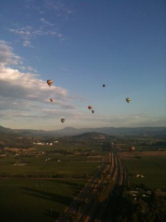 Balloons Above the Valley: View from our Balloon