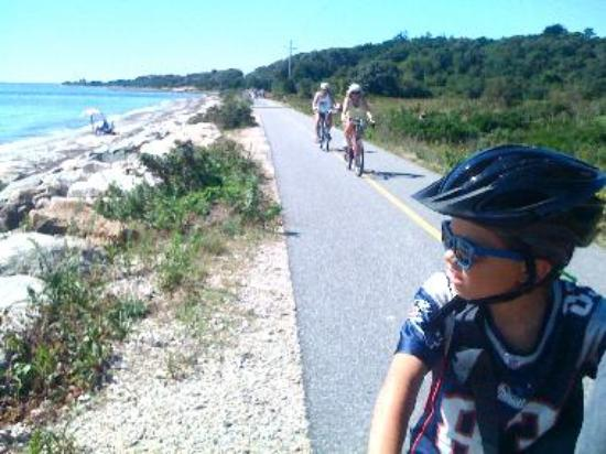 Riding the Shining Sea Bike Path is fun for all ages.