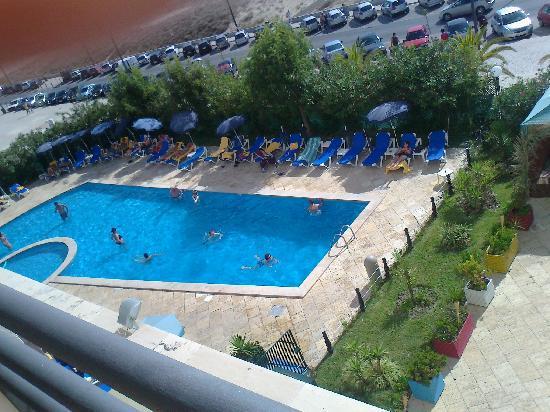 Costa da Caparica, Portugal : swimming pool view from our balcony