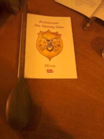 U Zizniveho jelena: il menu!