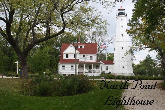 North Point Lighthouse: Back view of North Point