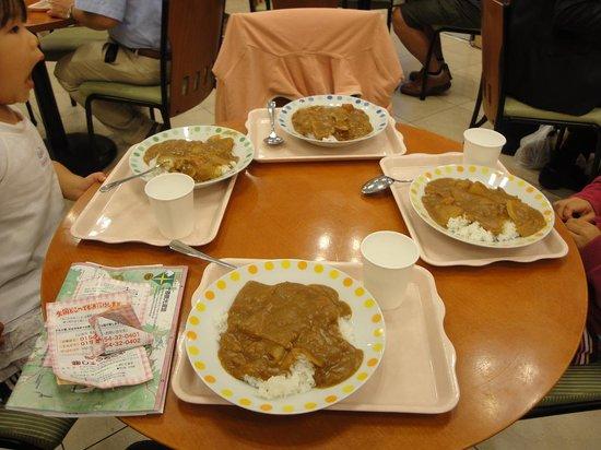 Toyoko Inn Kushiro Jujigai: 免費咖哩飯