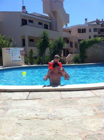 Plazamar Serenity Resort: My Son and boyfriend in the pool