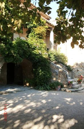 Mas d'Augustine: The steps up to the terrace