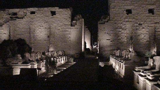 วิหารคาร์นัค: entrance of the sound and lightshow