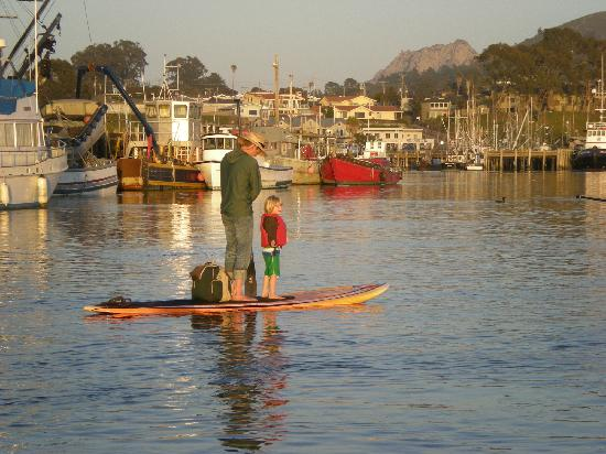 Central Coast Stand Up Paddling: A Father, son, Mt Hollister and Morro Bay...all in one moment of beauty.