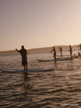 Central Coast Stand Up Paddling : Evening paddle in the back bay
