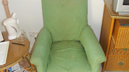 The Phoenicia Malta: Beaten up old armchair