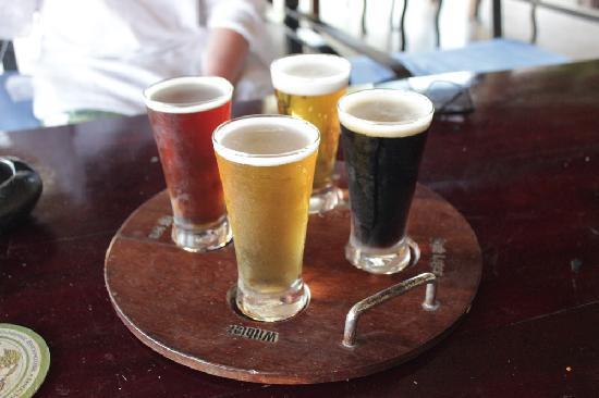 Louisiane Brewhouse: beer tasting tray