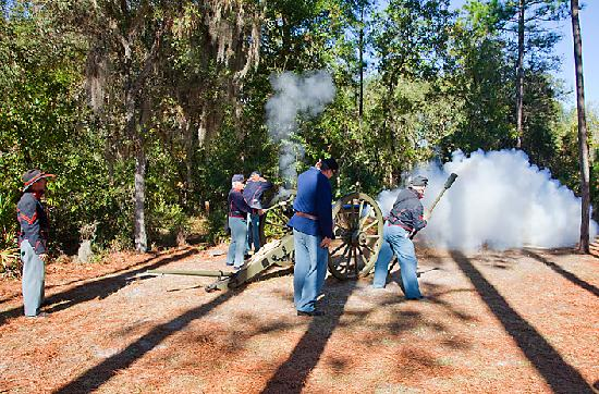 Holiday Inn Express Suites Ocala - Silver Springs: Civil War Reenactment at Silver River State Park (less than a mile from hotel)
