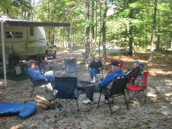Headquarters Campground: Dad's site