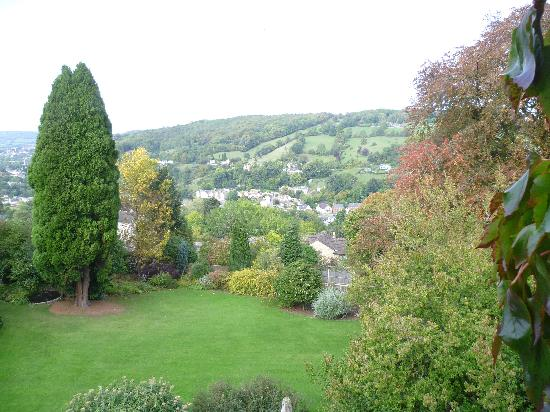 Burleigh Court Hotel: view from bedroom window