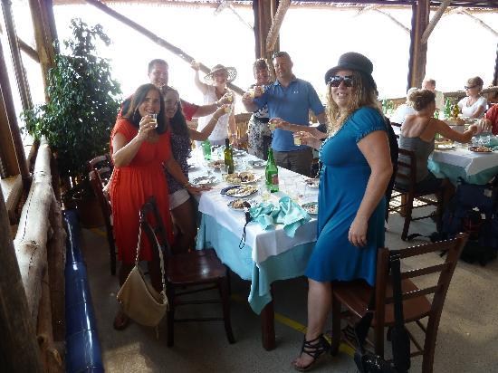 APTours Driver Tour Service: A Limoncello toast to end our meal at Tagliata.