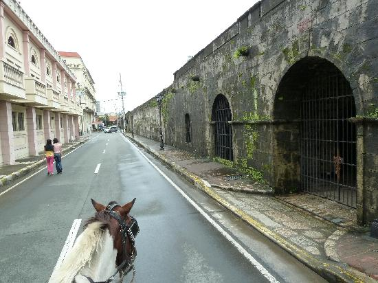 Fort Santiago: A view of the old wall.