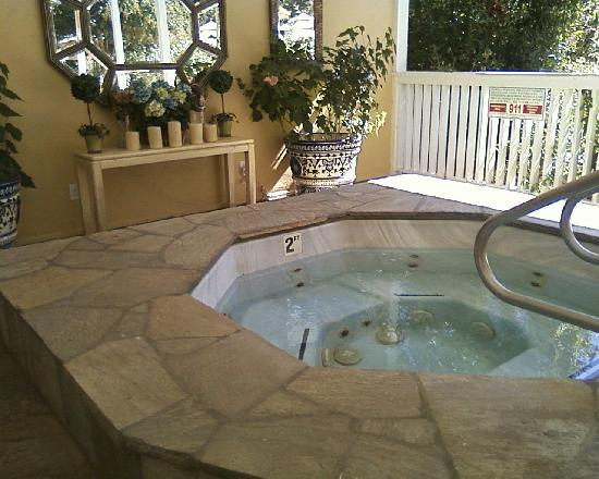 Meadowlark Country House: Hot tub by pool