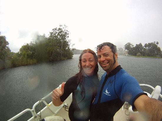 Manatees In Paradise: Roby e Laure sulla barca