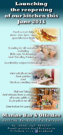 Marine Bar: Bar Food Available