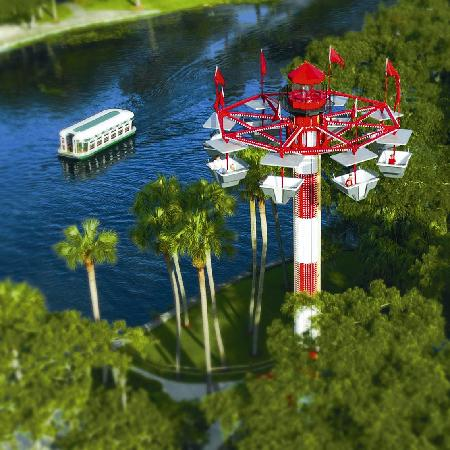 Howard Johnson Inn - Ocala: An aerial view of the Silver Springs Attractions located few miles from Howard Johnson Ocala
