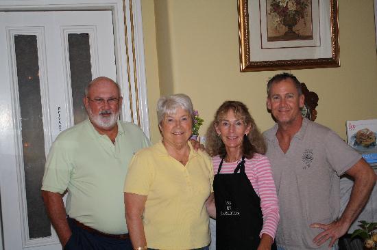 Inn On Carleton: Rod & Paula Friedmann, Kathy and Buddy